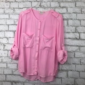 La Vi by SAM & LAVI Pink Button Blouse